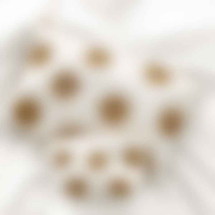 Elizabeth Scarlett Coin Purse White Cotton