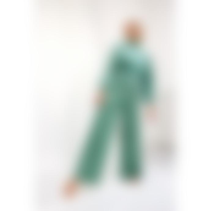 HunKøn Maddie Polka Dot Velvet Pants Mint Green