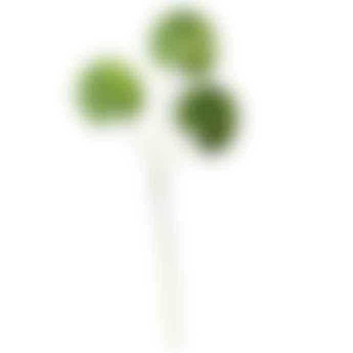Gisela Graham Set Of 3 Artificial Lotus Leaf Spray