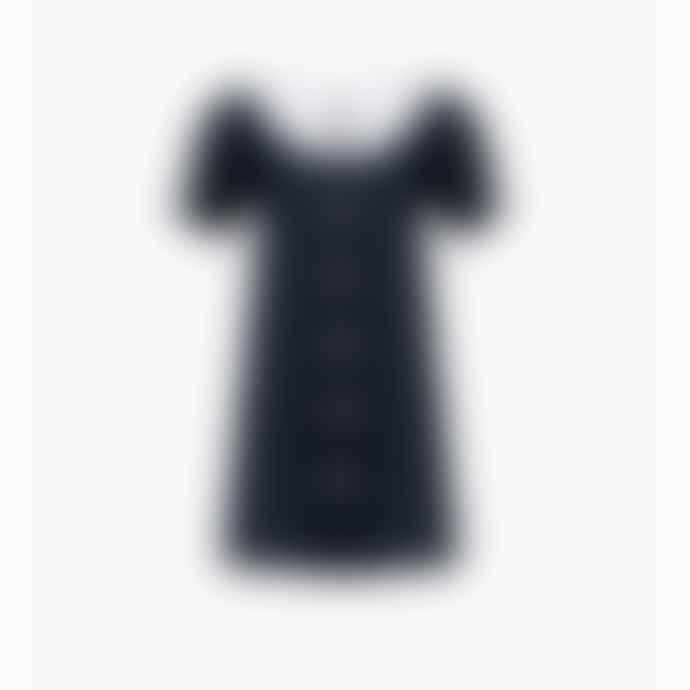 Sleeper Marie Linen Dress Navy