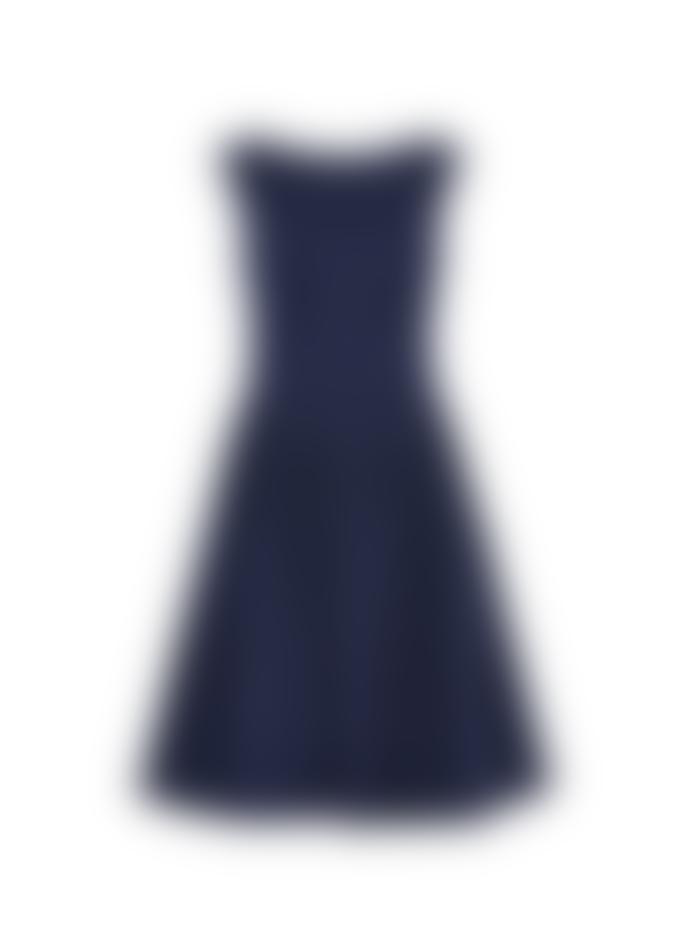 Emily and Fin Abigal Dress Navy Pin Dot