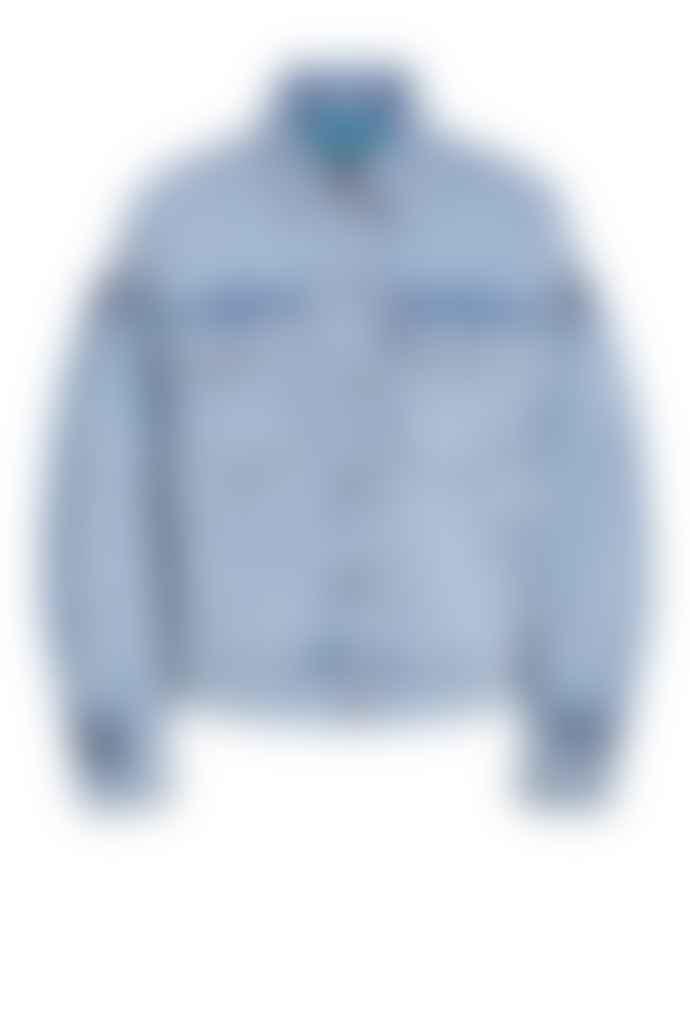 Set Fashion Denim Jacket With Sleeve Detail 72210