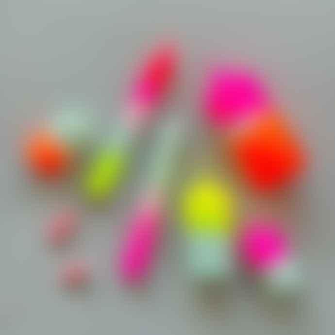 Pink Stories Dip Dye Neon - Rainbow Kisses Candles Set of 3