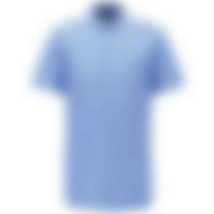 Boss Magneton Short Sleeve Shirt Open Blue
