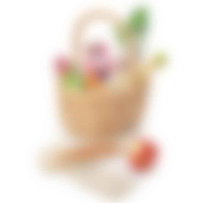 Tender Leaf Toys Wicker Shopping Bag