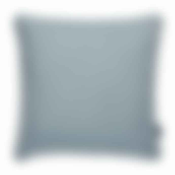 Pappelina Luxury Indoor Outdoor Cushion Sunny Design 44 X 44 Cm In Storm With White Trim