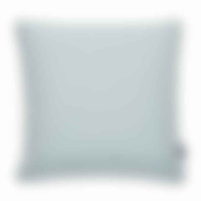 Pappelina Luxury Indoor Outdoor Cushion Sunny Design 44 X 44 Cm In Turquoise With White Trim