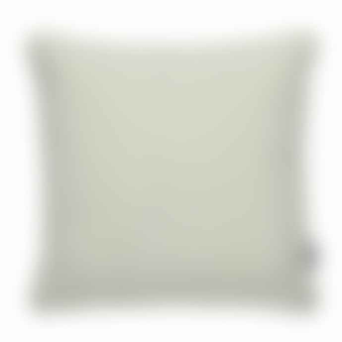 Pappelina Luxury Indoor Outdoor Cushion Sunny Design 44 X 44 Cm In Mint With White Trim
