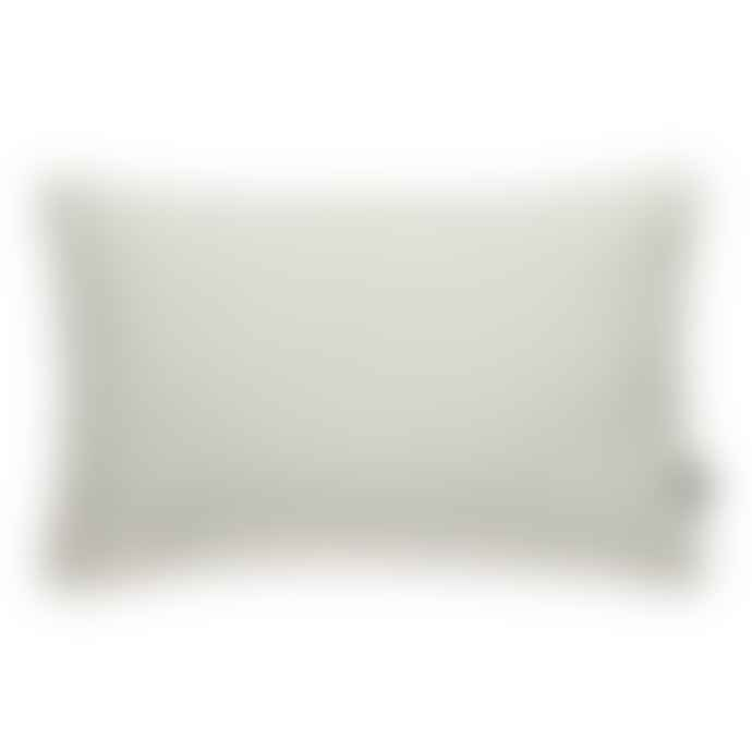 Pappelina Luxury Indoor Outdoor Cushion Sunny Design 38 X 58 Cm In Mint With White Trim