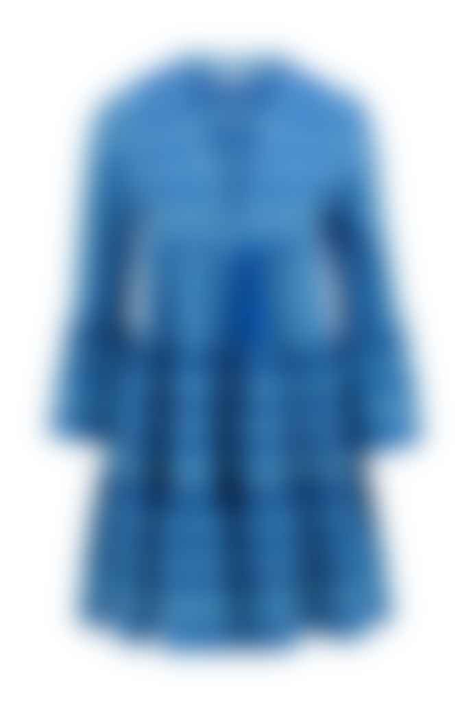 Devotion Twins Ella Dress In Baby Blue And Bright Blue 0203701 Gd