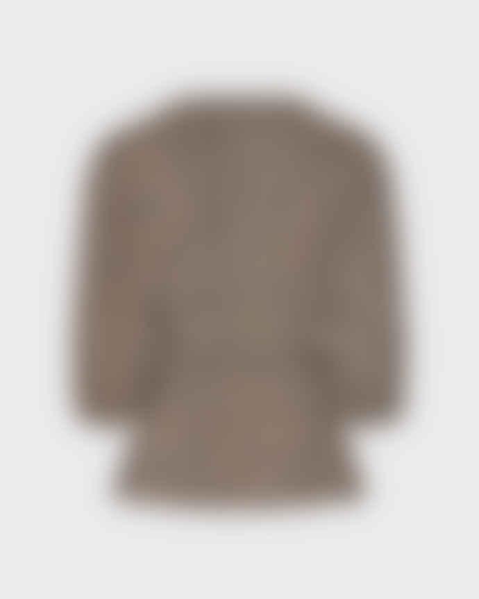 Minimum Navy Blazer Melany Long Sleeved Blouse