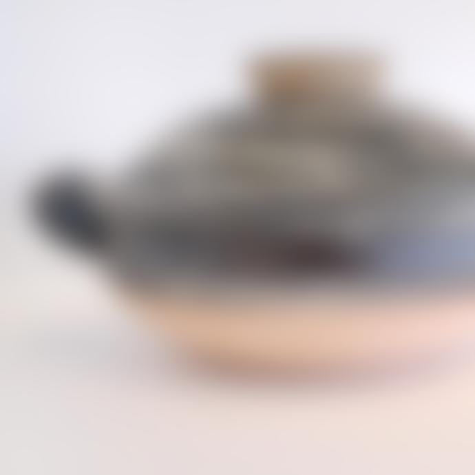 Nagatani-en Small Hakeme Design Donabe Clay Cooking Pot