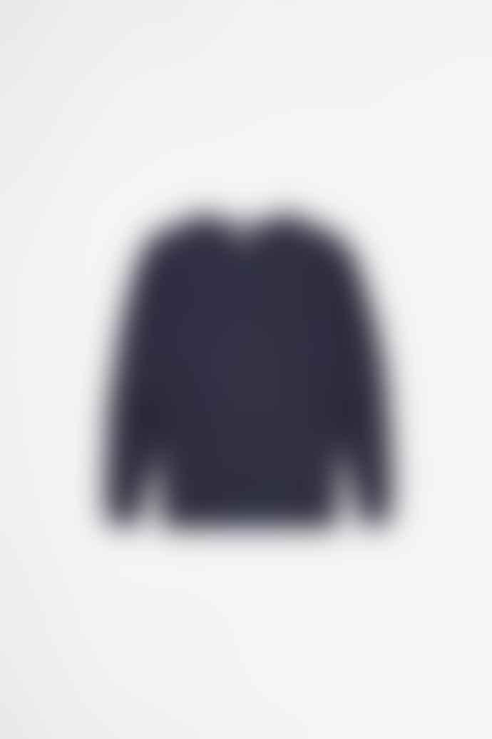 Sunspel Cotton Loopback Sweatshirt Navy