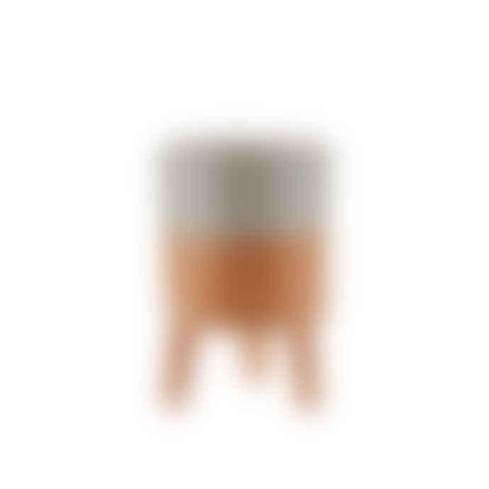 Bahne Orange Pot on stander 9.8cm