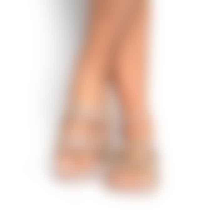 Cacatoes Glitter Trancoso Nude Sandal