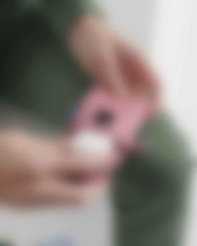 Baggu Puffy Headphones Case - Cerise Stripe