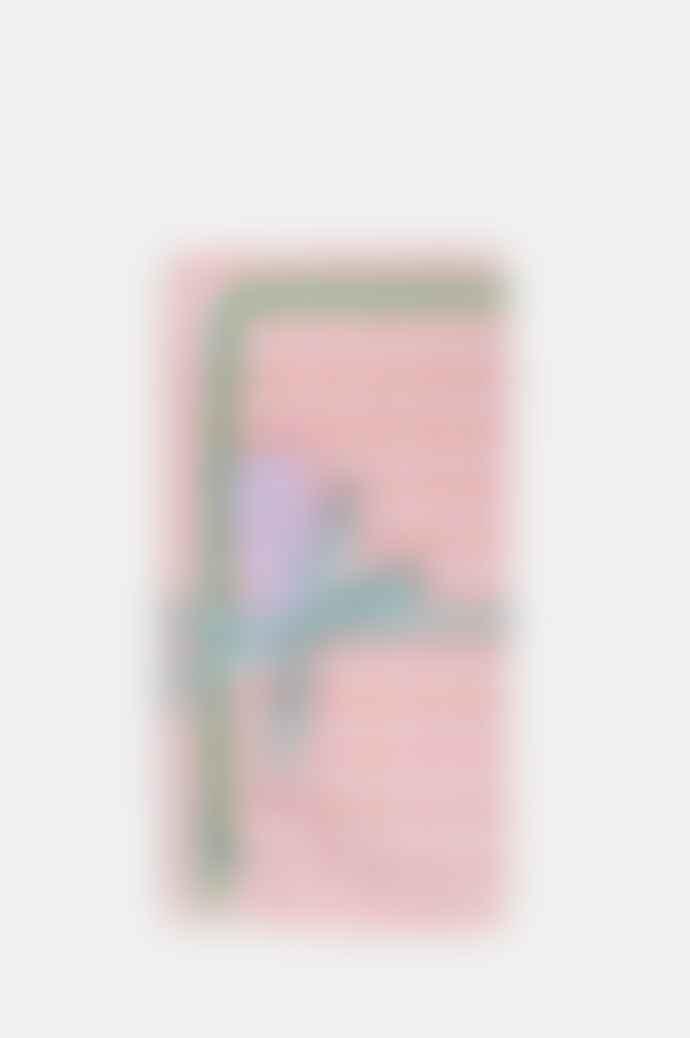 Cocolulu Set of 2 Pink Gingham Green Ric Rac Napkin