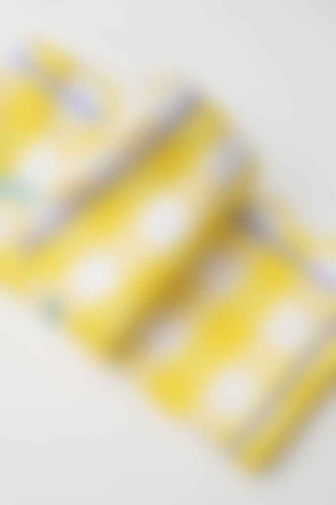 Cocolulu Set of 2 Yellow Gingham Lilac Ric Rac Napkin