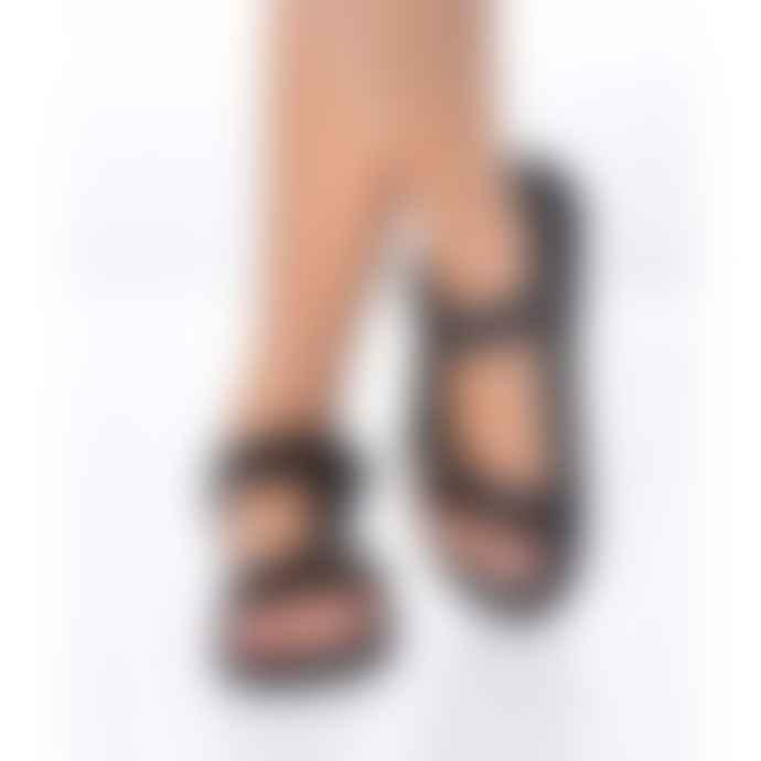 Cacatoes Manus Couro Sandals Black