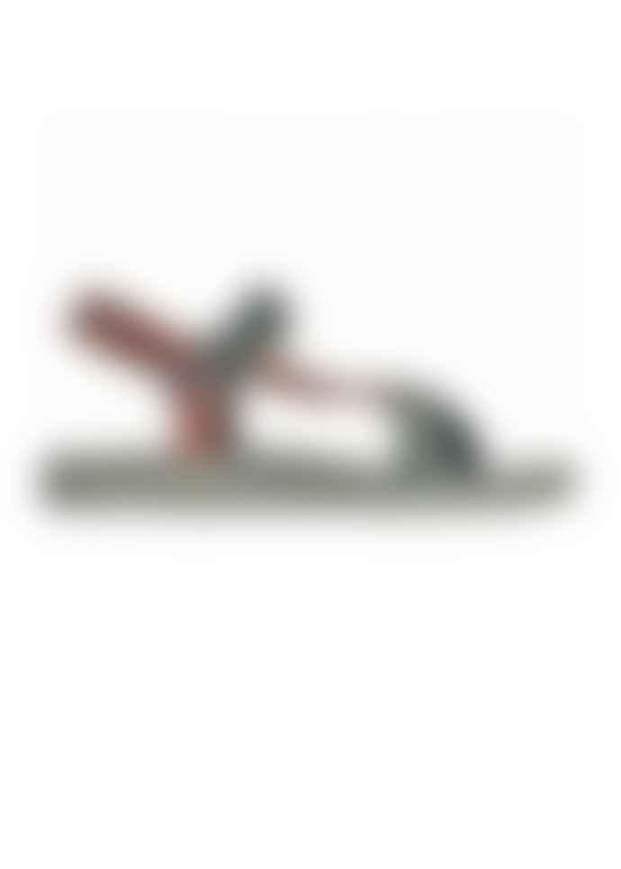 Cacatoes Manus Fresia Dark Khaki Strap Sandals