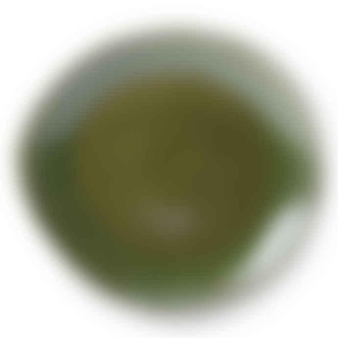 HKliving 70s Ceramics: Dinner Plates, Green (Set of 2)