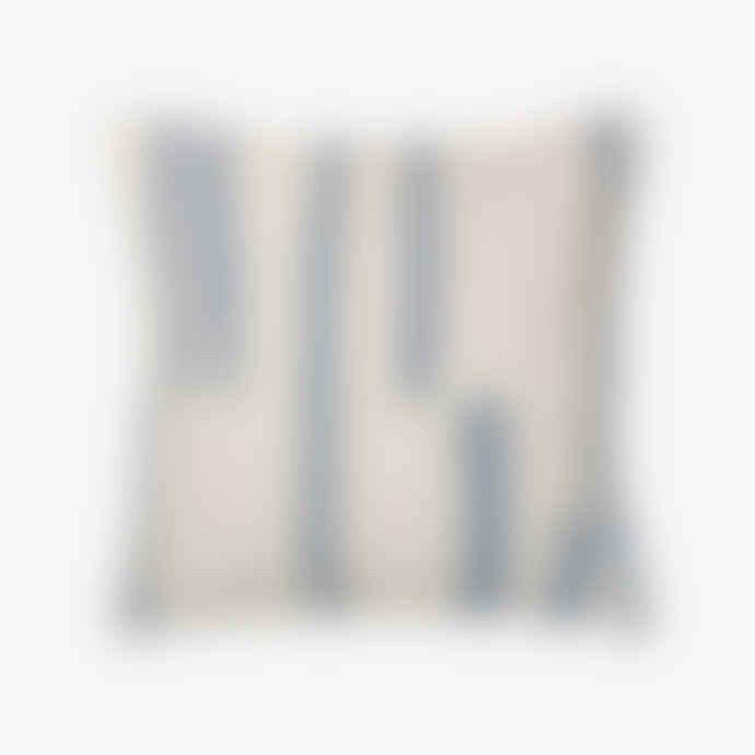Elvang Lyme Grass Cushion 50x50 Organic Cotton Blue