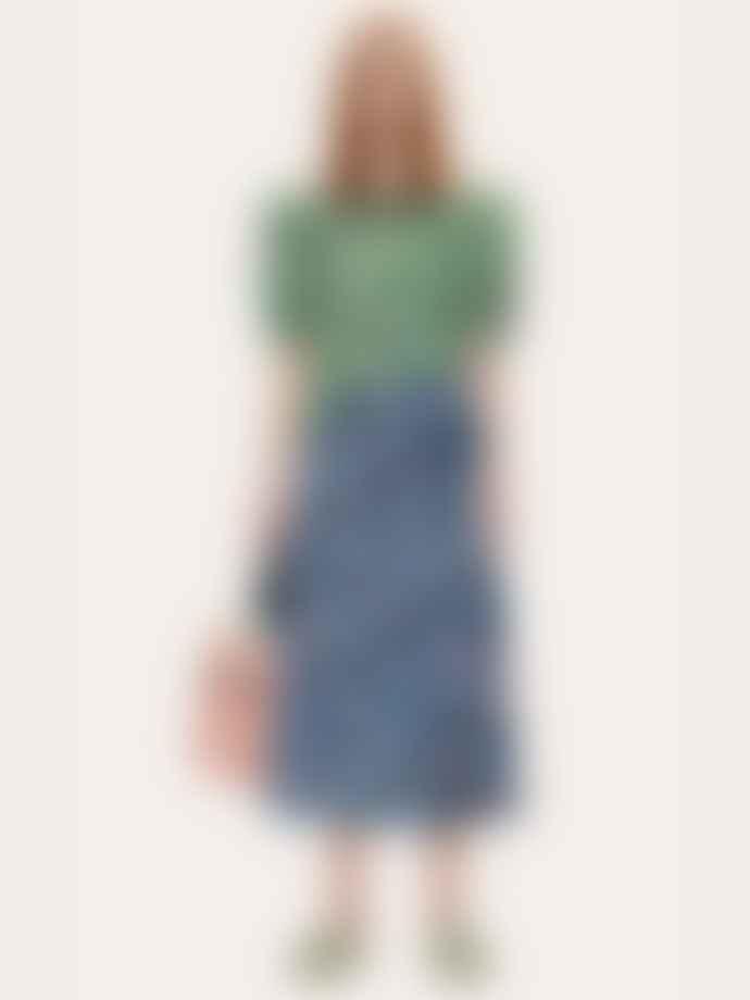 Stine Goya Kori Hammered Satin Dress Flowermarket Mix