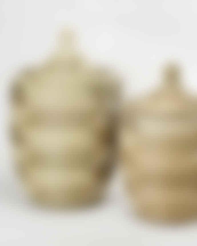 Artisanne Alibaba Laundry Basket Natural Grey Medium H 66 cm