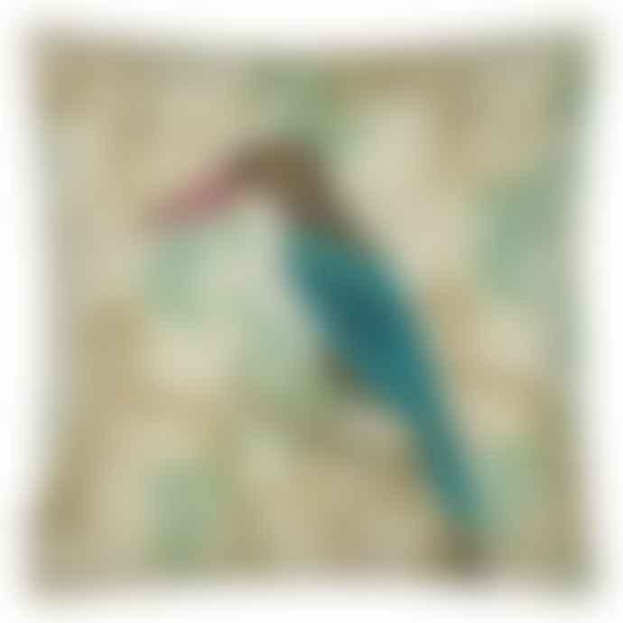 JOHN DERIAN Wallpaper Birds Sepia Linen Mix Cushion