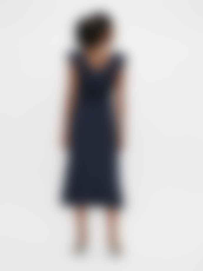 Object Navy Anna Midi Dress