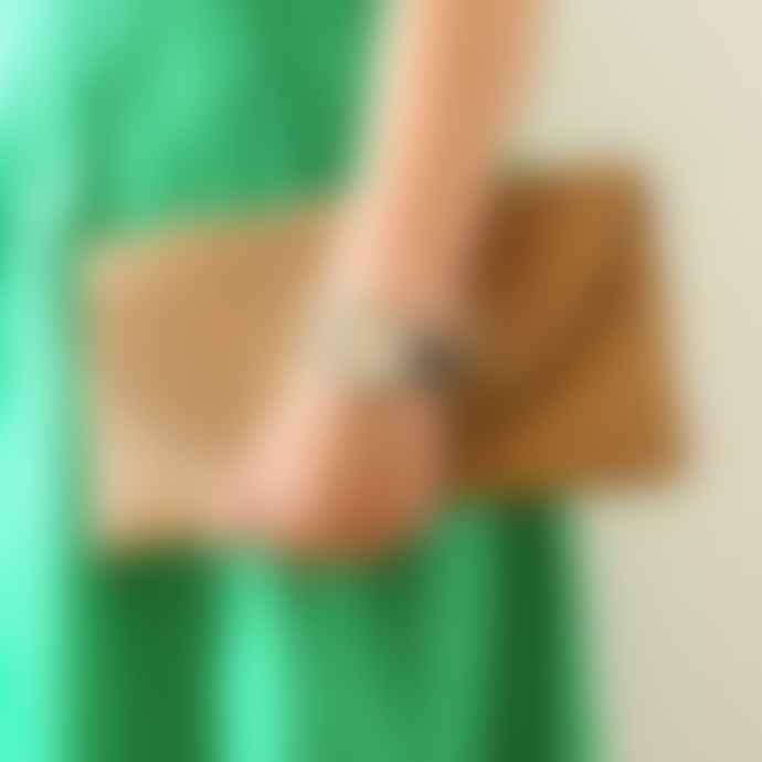 Berylune Straw Envelope Clutch Bag