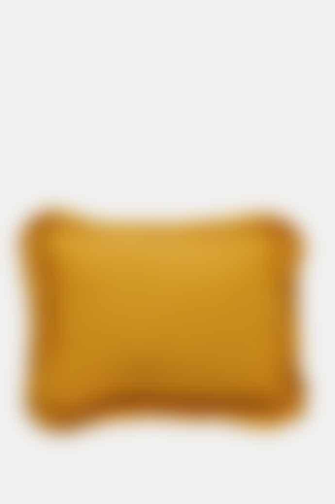 Projektityyny Leinikki Smocked Frill Mustard Cushion