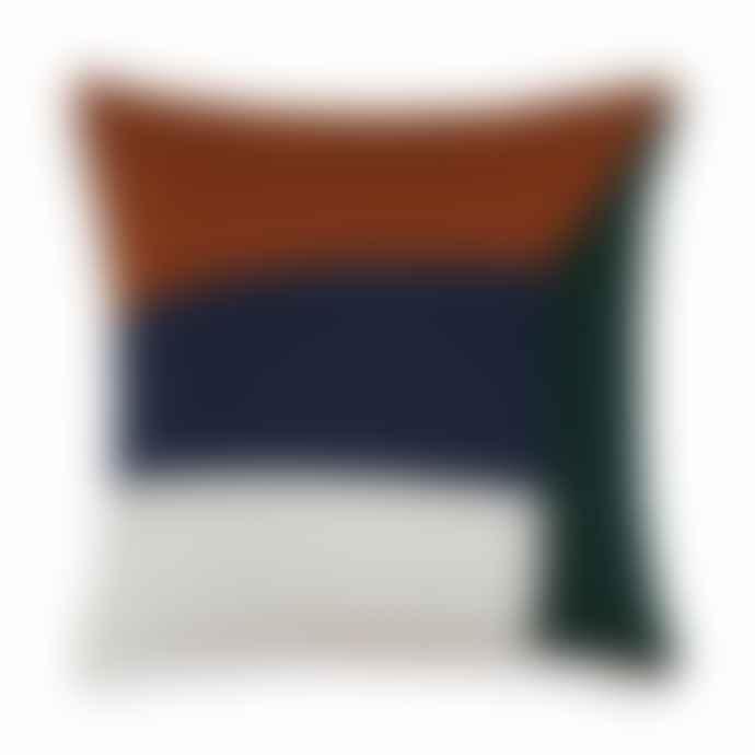 Sophie Home Land Cotton Cushion Ink & Ginger 50x50cm