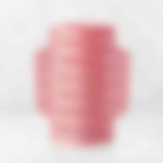 Octaevo Paper Vase Aurea Perforated Pink