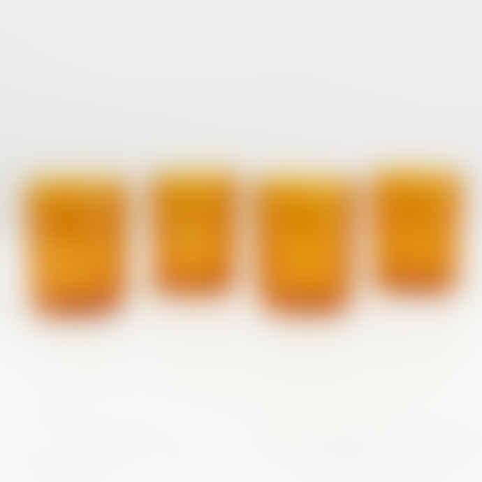 Maison Balzac Set of Four Large Drinking Glasses - Amber