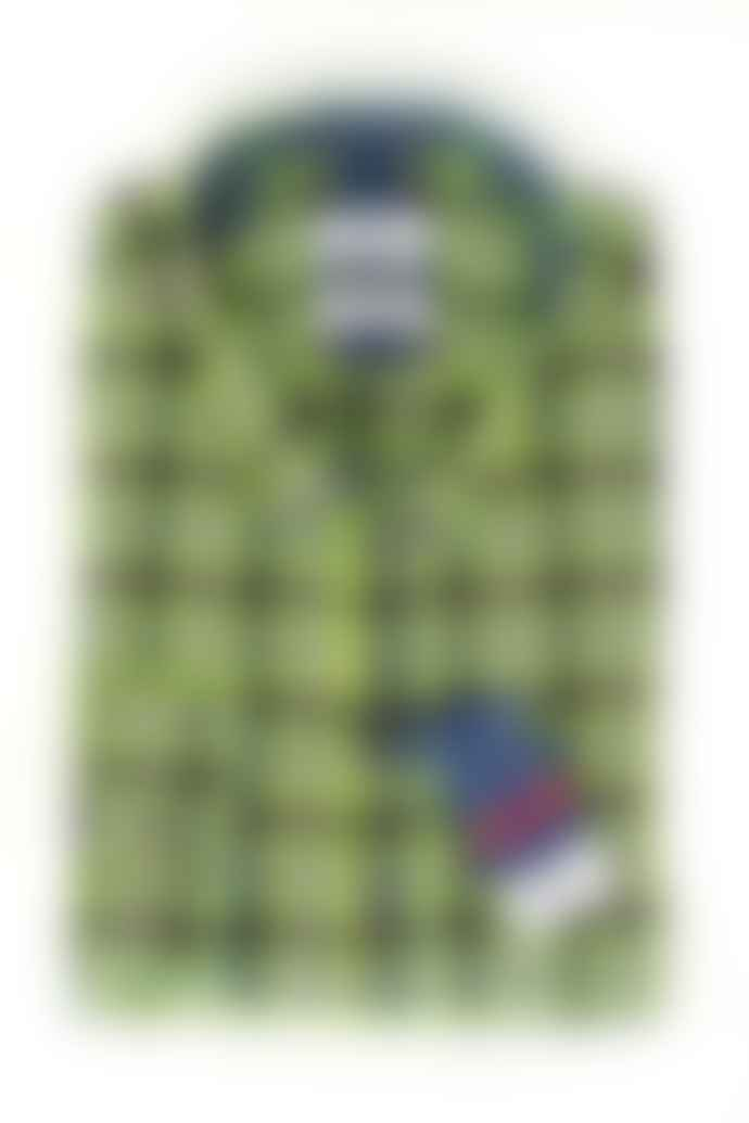 Dario Beltran Lime Check Shirt