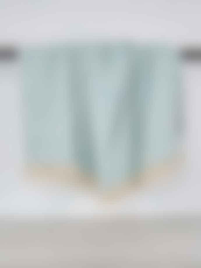 Indra Importer Diamond Handwoven Cotton Throw Cobalt Blue