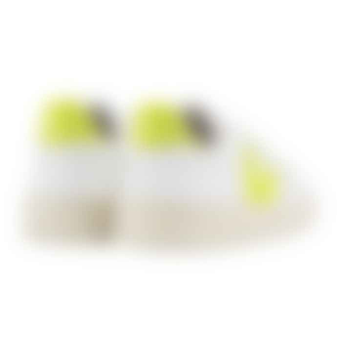 Veja V-10 Leather Extra White Jaune Fluo Trainers