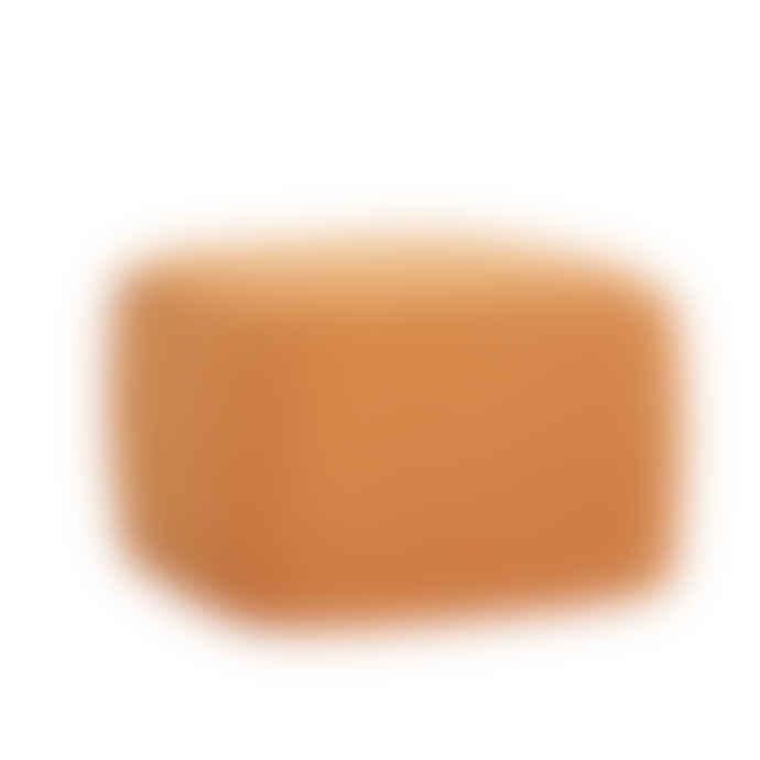 Hubsch Orange Square Pouf