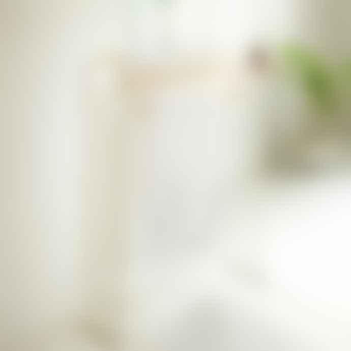 Yamazaki Plain Bath Towel Hanger In White With Wooden Rods