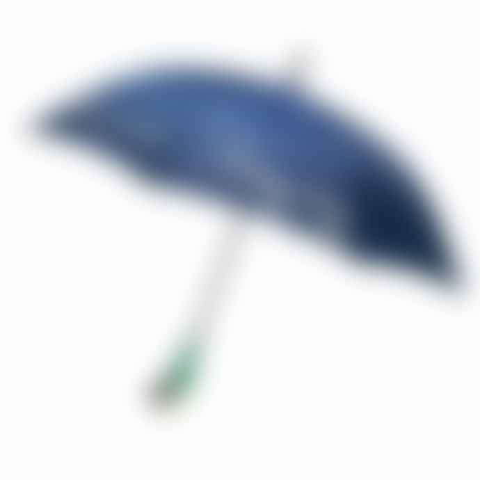 Paladone Umbrella Mary Poppins Blue With Green Parrot Handle