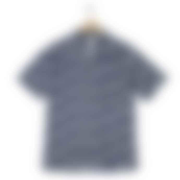 Hartford Slam Palm Print Shirt White Blue
