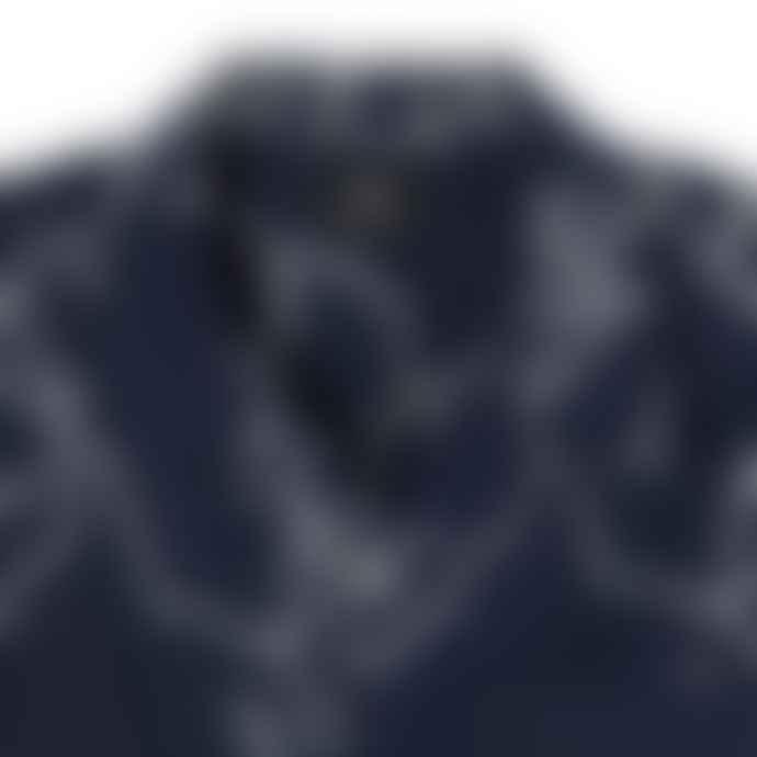 Edwin Enitsuj Linen Cotton Shirt Blue White