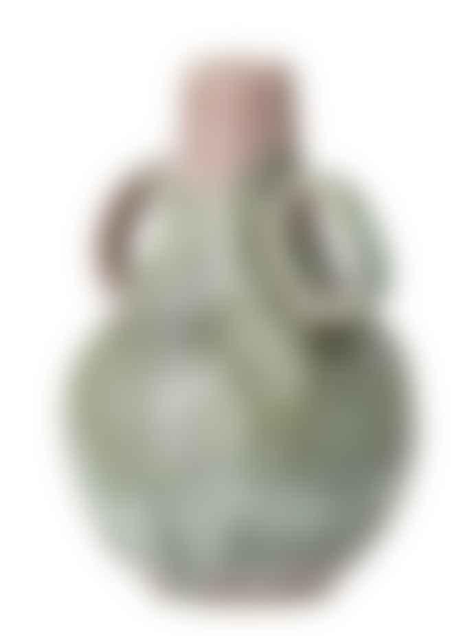 Bloomingville Green Glazed Ibbi Stoneware Vase