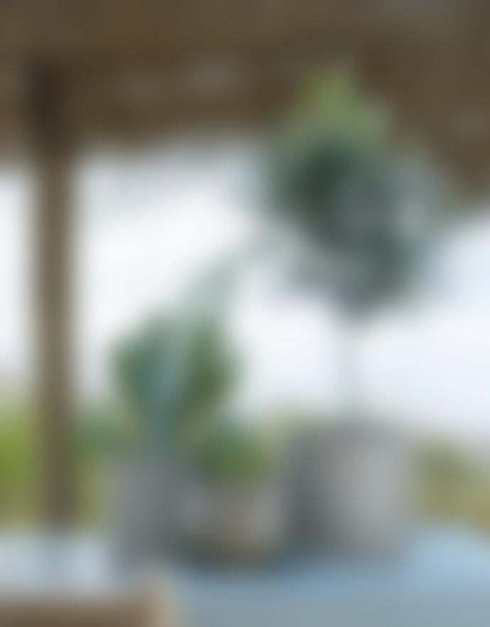 Wikholm Form Jane Pot In Stripe Beige Melange Large