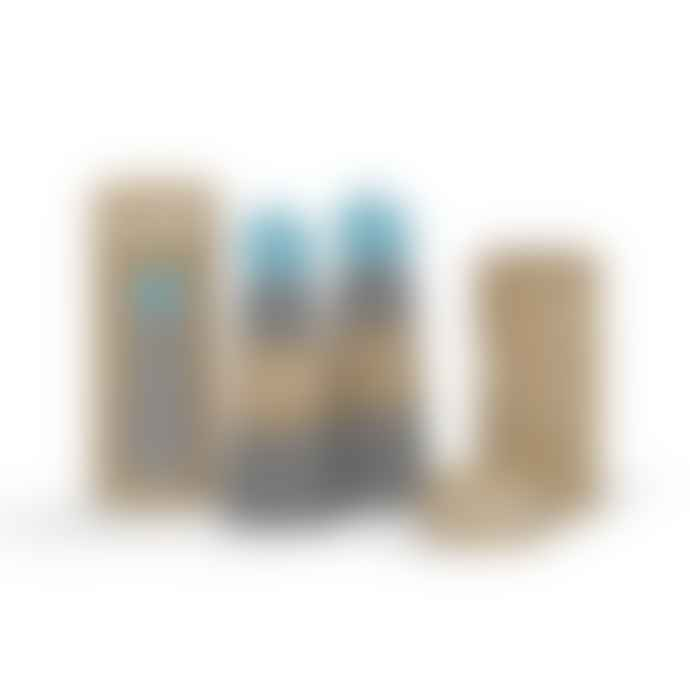 Lund London Dark Grey and Turquoise Skittle Bottle 500ml