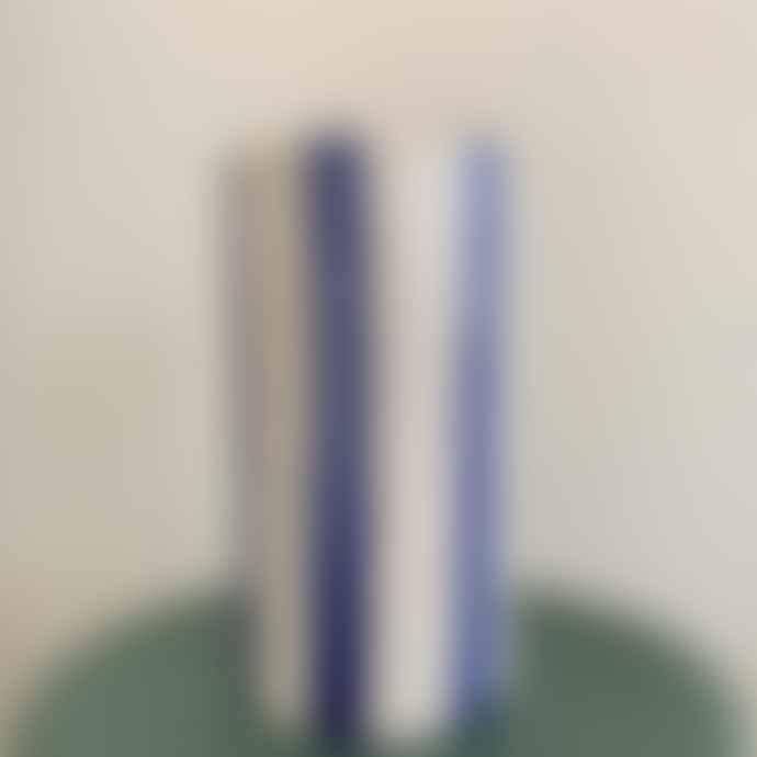 Casa Cubista Vaso Stripes Regular Bianco E Blu