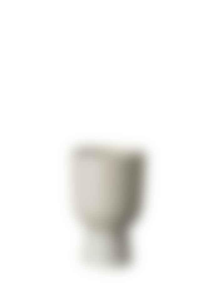 Wikholm Form Beige Metal Akhila Rounded Plant Pot