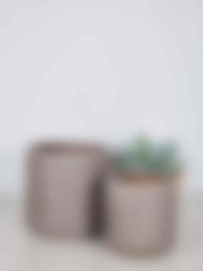 Wikholm Form Textured Diamond Jenny Pot In Grey Melange Small