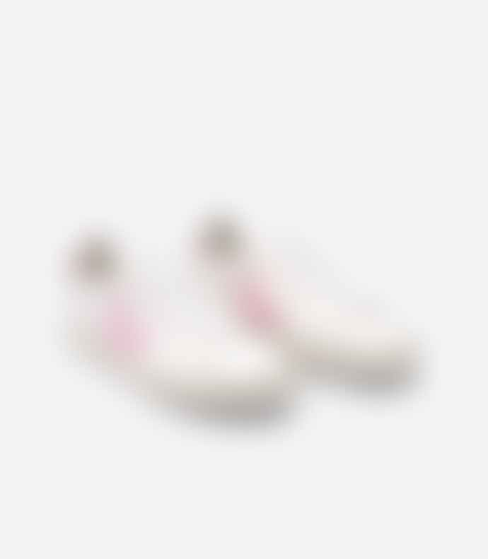 Veja White and Guimauve Campo Chrome Free Marsala Sneaker